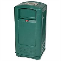 Rubbermaid Landmark Cigarette Bin Durable Plastic 189 Litre Green 3965-58