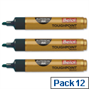 Berol Autoseal Toughpoint Permanent Marker Chisel Tip Black Pack 12