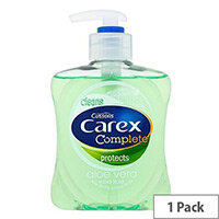 Carex Antibacterial Aloe Vera Liquid Soap Hand Wash 250ml (Pack 1) 339865 #H/S