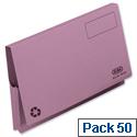 Document Wallet Full Flap Foolscap Mauve Pack 50 Elba