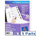 Avery 01810061 Index Divider Set Punched 5-Part
