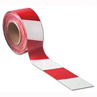 Flexocare Red and White Polythene Barrier Tape Dispenser 72mmx500m
