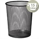 Osco Mesh Black Waste Desk Bin Scratch-resistant