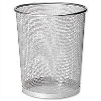 Osco Mesh Silver Waste Desk Bin Scratch-Resistant 15L