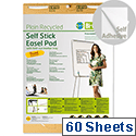 Earth-it Flipchart Easel Pad Self Stick 635x762mm FL1217507 Pack 2
