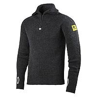 Snickers 2905 ½-Zip Wool Sweater Anthracite Melange