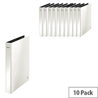 Leitz WOW A4 Plus 25mm 2 D-Ring Binder White Pack of 10 42410001