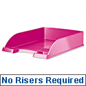 Leitz WOW Bright Letter Tray Stackable Glossy Metallic Pink