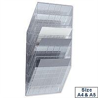Literature Holder Wall Mountable Clear 6 x A4 or 12 x A5 Durable Flexiboxx