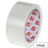 Large Clear Tape 38mm Easy Tear Pack 4 5 Star