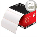 Office Address Labels 89 x 36mm on Continuous Roll 250 Labels 5 Star
