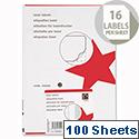 5 Star Address Labels 99.1x34mm White (1600 Labels)