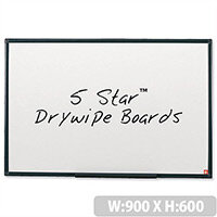 Whiteboard Lightweight 900 x 600mm 5 Star