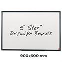 Whiteboard Lightweight 900 x 600mm 5 Star