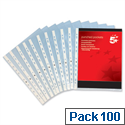 A4 Clear Punched Pocket 5 Star Pack 100