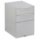 Bisley Wave Mobile Pedestal 2 Stationery & 1 File Drawer 645H Silver