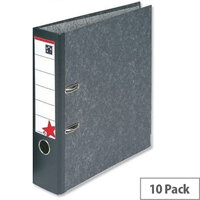 Foolscap Lever Arch File Cloudy Grey 5 Star Pack 10