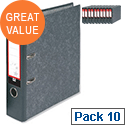 A4 Lever Arch File Cloudy Grey 5 Star Pack 10