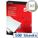 A3 White Multifunctional Paper 80gsm 500 Sheets 5 Star