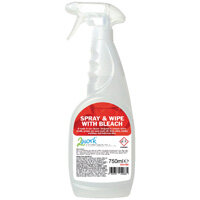 2Work Spray and Wipe with Bleach 750ml 2W01066