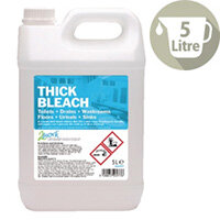 2Work Thick Bleach Strong Cleaner 5 Litre Pack 1 2W03977