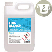 2Work Thin Bleach Cleaner 5 Litre Pack 1 2W03978