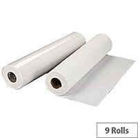 2Work Hygiene Cleaning Paper Rolls 2-Ply 500mm x 40m Pack 9 White Rolls