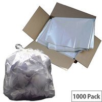 2Work Swing Bin Liners 45L White Pack of 1000 KF73379