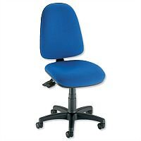 Asynchronous High Back Office Operator Office Chair Blue Trexus