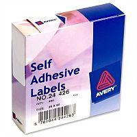 Avery White Label Dispenser 25x50mm 24-426 400 Labels