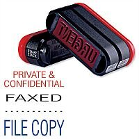 Trodat 3 in 1 Stacked Stamp Private & Confidential - Faxed - File 11162