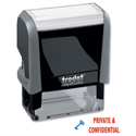 Trodat Printy Private & Confidential Stamp Self-inking 18 x 46 mm Red and Blue 43360