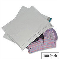 GoSecure Grey Lightweight 440x320mm Polythene Protective Envelopes Pack of 100