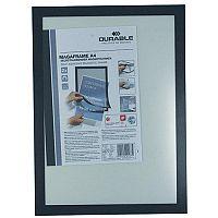 Durable Magaframe A4 Self Adhesive Black 487201 Pack2