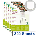 Earth-it A1 Flipchart Pad Perforated 40 Sheets FL0111801 Pack 5