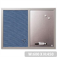 BiSilque Magnetic Drywipe and Notice Board 600 x 450 mm Bluebell MX04429608