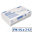 Scott Performance 1 Ply Paper White Hand Towels 212 Sheets Pack of 15 (3180 Towels) 6663