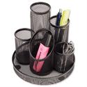 Mesh Pencil Pot 5 Tube Black Osco