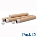 Mailing Tubes Cardboard Pack 25 A4-A3 L330xDia.50mm PT-050-15-0330