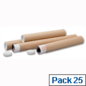 Poster Tubes A1 Size Cardboard Pack 25