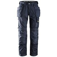 """Snickers 3211 Craftsmen CoolTwill Work Trousers with Holster Pockets Navy Waist 30"""" Inside leg 30"""" WW1"""