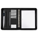 Office Ring Binder Folder Zipped with Pad 4 Ring Capacity 30mm A4 Black 5 Star