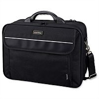 "Lightpak Arco Laptop Bag 17"" Padded Nylon Capacity Black"