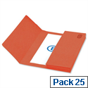 Premium Document Wallet Foolscap Red Pack 25 Elba