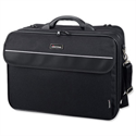 "Multi-Compartment 17"" Laptop Bag Black Nylon Lightpak Corniche"