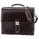 Alassio Monaco Laptop Bag with Shoulder Strap Leather-look Dark Brown 47022