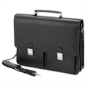 "Leather-Look Laptop Briefcase Black with Organiser Shoulder Strap for 15.4"" Alassio Vento"