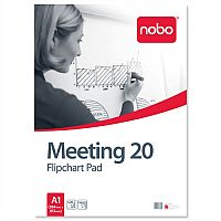 Nobo A1 Flipchart Pad Perforated 20 Sheets Plain Pack 5