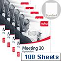 Nobo A1 Flipchart Pad Perforated 20 Sheets Plain Pack 5