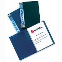 Rexel Plastic Display Book A4 Black 40 Pockets Full Length Spine